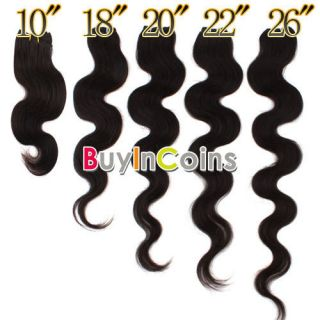 18 20 22 26 Remy Body Wave Human Hair Weaving Weft Extensions #1B