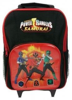 Power Ranger Samurai School Travel Trolley Roller Wheeled Bag Brand