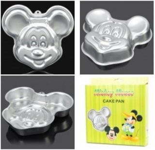 Aluminum Alloy Mickey Mouse Image Shaped Cake Pan Moulds Mold