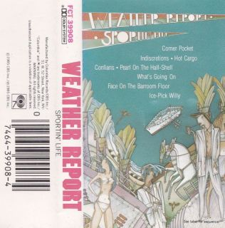 sportin life weather report cassette 1985 in nm one day shipping
