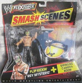 Smash Scenes Flip Kickin REY MYSTERIO Action Figure WWF New w/Table