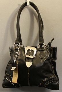 country road black double strap hand bag
