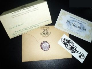 HARRY POTTER HOGWARTS ACCEPTANCE LETTER Personalized Free tatttoo and