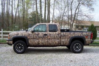 Camo Vinyl Wraps Standard Truck Kit; Mossy Oak, Realtree & More