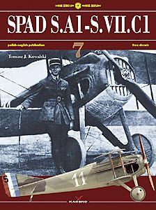 Kagero Book: SPAD S.A1 through S.VII.C1   4 pgs color profiles, decals