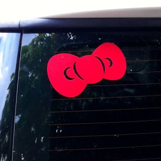hello kitty logo decal car sticker red big bow 6