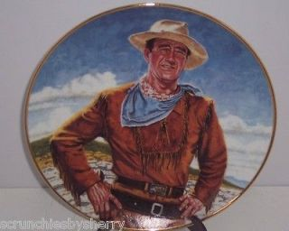 John Wayne Plate The Duke Collector Franklin Mint Vintage Retied