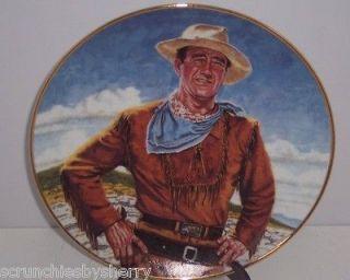 John Wayne Plate The Duke Collector Franklin Mint Vintage Retied