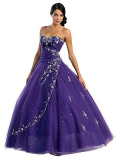 Strapless Ball Gown Long Prom Dress Corset Back Tulle New many colors