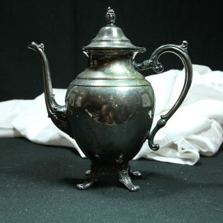 WM Rogers W/ EAGLE Silver Co. Silver Plated Tea Coffee Pot Pitcher