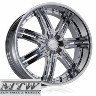 18X7.5 HOYO H2 S 18  INCH CHROME WHEELS RIMS 5X108 5X114.3 +38