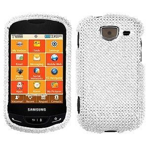 SILVER Bling Phone Snap On Cover Case for Samsung BRIGHTSIDE U380
