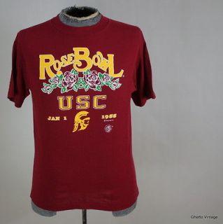 Vtg 80s USC TROJANS 1988 Rose Bowl t shirt MEDIUM NCAA Football