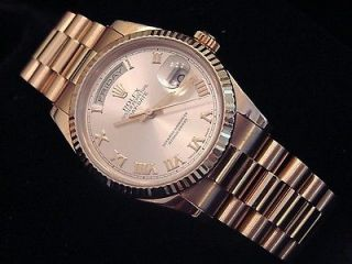 Newly listed MENS 18K PINK ROSE GOLD ROLEX DAY DATE PRESIDENT WATCH