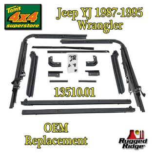 Replacement SOFT TOP HARDWARE (Fits 1995 Jeep Wrangler Rio Grande