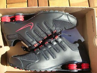 nib $ 120 nike shox nz black red running training