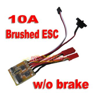 RC 10A ESC Brushed Speed Controller for 1/16 18 24 Car Boat Tank w/o
