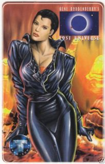 gene roddenberry s lost universe promo phone card time left