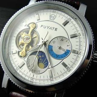 Newly listed Mens women MoonPhase Tourbillon AUTO Mechanical Watch