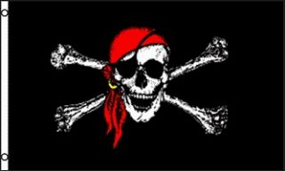 captain jack pirate flag jolly roger new red hat from australia time