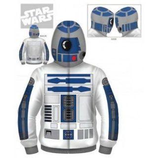 STAR WARS Premium R2D2 Zipup Hoodie Sweatshirt S M L XL XXL NEW