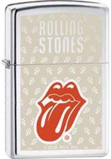 Cigarette Lighter~Rolling Stones~Lips & Tongue Logo~Polished Chrome