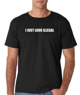 mens i just look illegal funny immigration romo t shirt