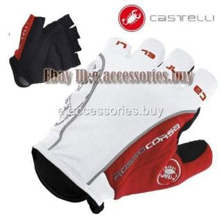 castelli rosso corsa bike cycling gloves white red more options