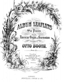HARMONIUM OR AMERICAN ORGAN MUSIC ALBUM LEAVES 6 PIECES COMPOSED BY