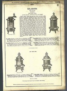 1921   22 AD Simmons Enders Coal Wood Burning Stove Heaters Aetna
