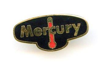 Mercury w/ Thermometer black & Red Enamel Gold Tone Lapel Tie Tac