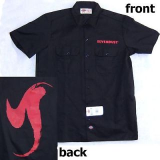 sevendust red logos dickies black work shirt large new time