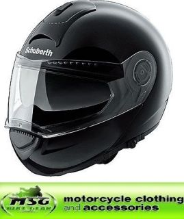 schuberth c3 flip motorcycle helmet gloss black xxl from united