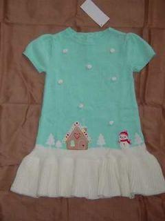 COZY CUTIE blue sweater dress 18 24 2T 3T 4T 5T snowman scenic