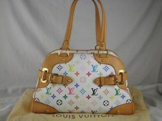 Newly listed AUTHENTIC LOUIS VUITTON WHITE MULTICOLORE CLAUDIA PURSE