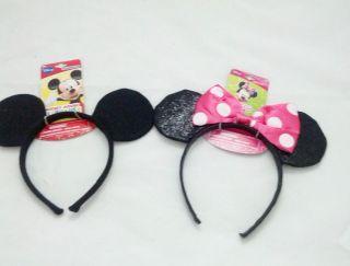 Licensed Minnie & Mickey Mouse KIDS Costume Cartoon Dress Up Headband