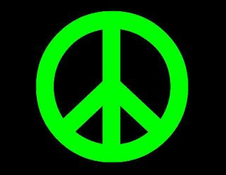 peace sign 70 s window decal neon vinyl sticker 3x3