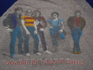 ORIGINAL VTG 1983 THE JOURNEY BAND FRONTIERS WORLD TOUR T  SHIRT LARGE