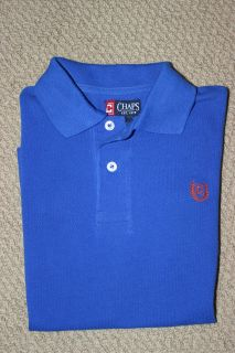 NWT Chaps Ralph Lauren Polo Shirt Boys Short Sleeve Blue Free US Ship