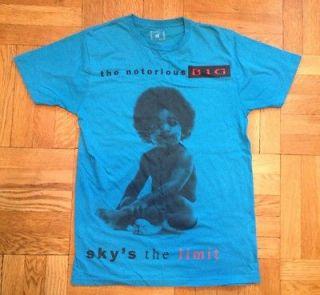 notorious big t shirt blue size large