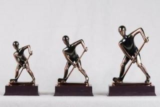 Newly listed Small Nickel Alloy Hockey Player with Puck Figurine