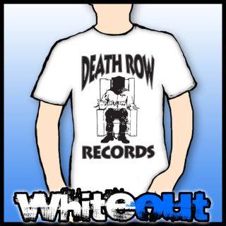 RECORDS DR DRE TUPAC SHAKUR SNOOP DOGG GANGSTA RAP WHITE T SHIRT TEE