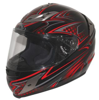 Zox Odyssey RN2 Snell Full Face Helmet Nightwish Red Medium  XX Large