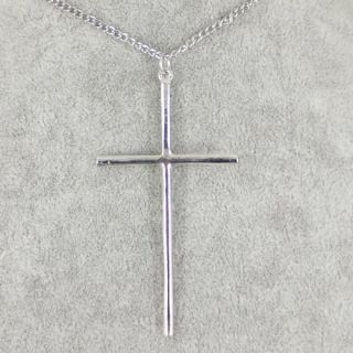 Fashion Jewelry Gold/Silver/Bronze Metal Big Cross Pendants Necklace.
