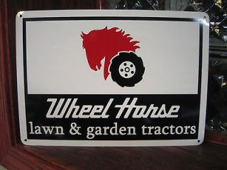 Wheel Horse Garden & Lawn Tractors Garage Mechanic Logo Sign