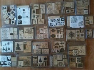 Stampin Up Christmas, Winter rubber stamp sets, U Pick Lots to