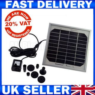 9V Solar Panel Power Submersible Fountain Pond Water Pump FOR Pond