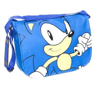 SEGA SONIC THE HEDGEHOG SHOULDER BAG   Blue Messenger School Satchel