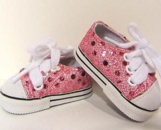 PINK SPARKLE DOLL SNEAKERS for American Girl or 18 Inch Dolls