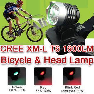 NEW 1600LM CREE XML XM L T6 LED Bicycle Bike Head Light Lamp Free